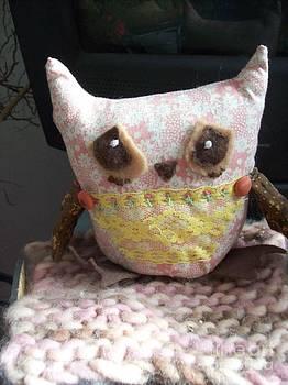 Rose Bud Sad Owl by Katie Thomas