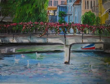 Rose Covered Bridge by Carolyn Speer