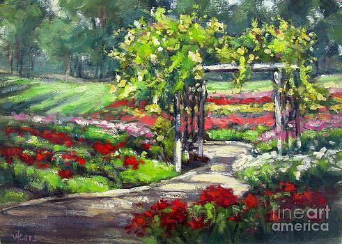 Rose Garden Arbor by Vickie Fears