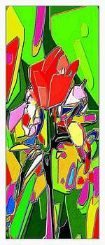 Rose Pop art by Ck Gandhi