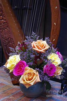Tannis  Baldwin - Roses and Harp
