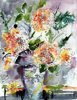 Ginette Callaway - Roses Impressionists Heirloom Watercolor Still Life