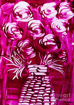 Simon Bratt Photography LRPS - Roses in pink with wicker vase