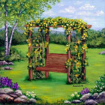 Roses On The Arbor Swing by Sandra Estes