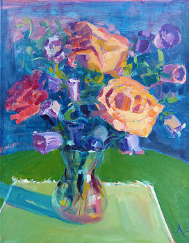 Roses on the Table by Azhir Fine Art