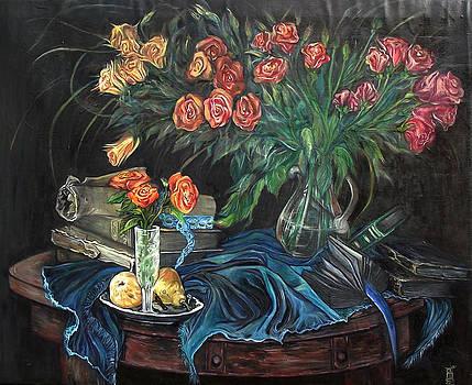 Roses still life by Safir  Rifas