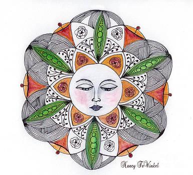 Roses'N Pods Mandala by Nancy TeWinkel Lauren