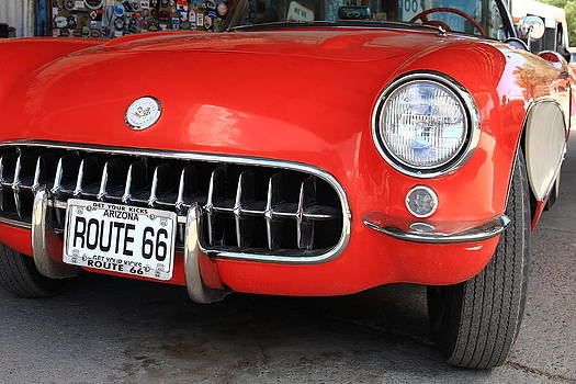 Route 66 Corvette 7 by Frank Romeo