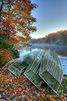 Dan Carmichael - Row Boats on a Foggy Lake in the Blue Ridge