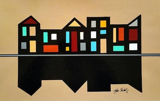 Rowhouses Shadow by John Chehak