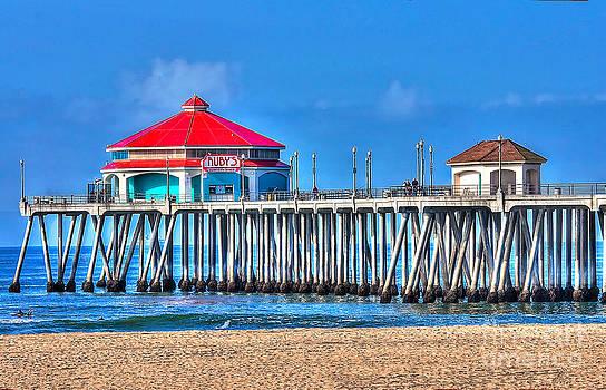 Ruby's Surf City Diner - Huntington Beach Pier by Jim Carrell
