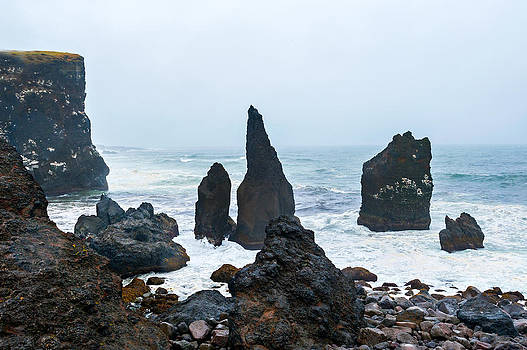 Rugged Volcanic Coastline of Iceland by Kay Price
