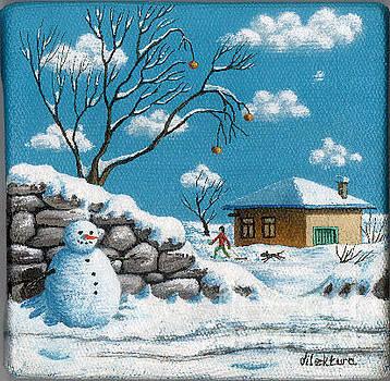 Runaway Snowman by Dilek Tura