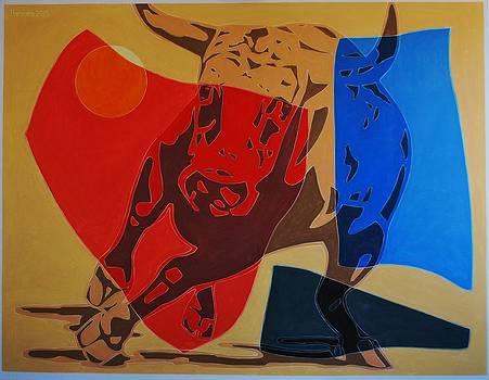 Running Bull by Varvara Stylidou