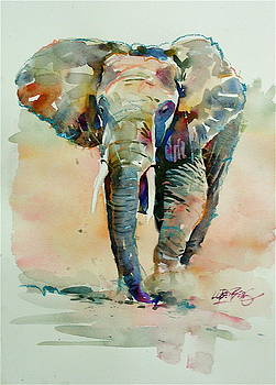 Running Elephant by David Lobenberg