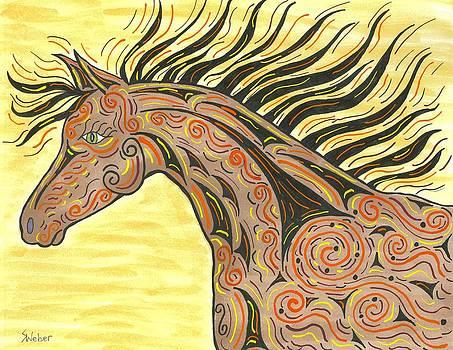 Running Wild Horse by Susie WEBER
