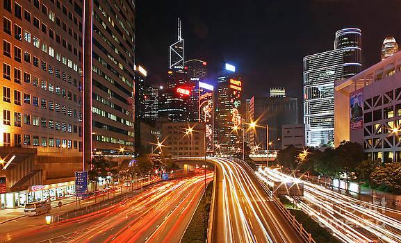 Rush Hour in Hong Kong by Lars Ruecker