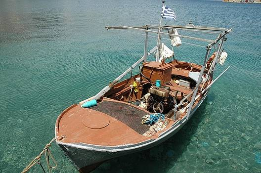 Rustic Boat by Ruby And Wolf
