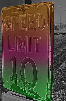 Rusty Road Sign Solarized And Colorized by ImagesAsArt Photos And Graphics