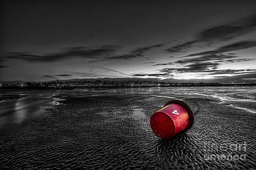 English Landscapes - Ryde Sands at Night bw