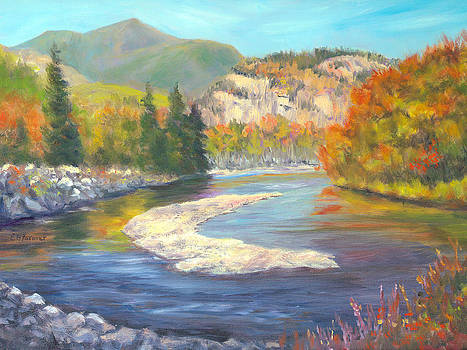 Saco and Cathedral Ledge by Elaine Farmer