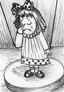 Sad Little Puppet Girl by Joyce Gebauer