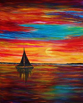 Sail and Sunset by Julie Lourenco