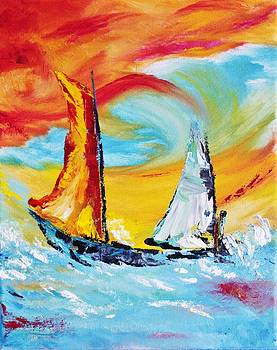 Sail Away 2 by Julie Lourenco