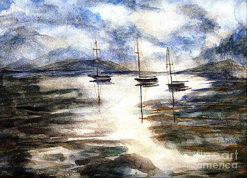 Sail Boats on The Mud Flats by Randy Sprout