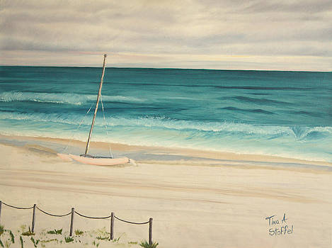 Sailboat In The Ocean Breeze by Tina Stoffel