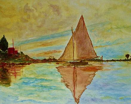 Sailboat  by Julie Lourenco