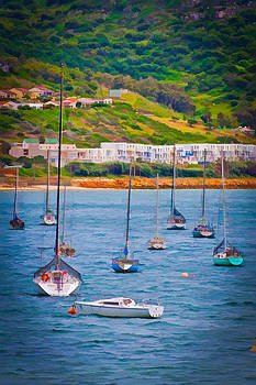 Sailboats at Simons Town by Cliff C Morris Jr