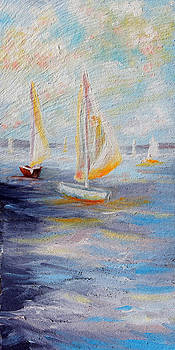 Sailboats on Seneca by Meaghan Troup