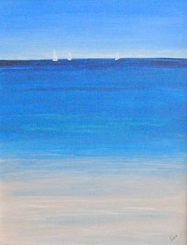 Sailboats on the Horizon by Nancy Nuce