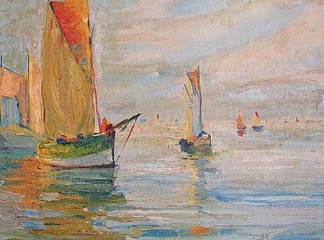 Sailing Boats by Henry Goode