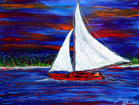 Sailing By Mid-Night 2 by Portland Art Creations
