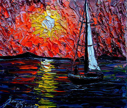 Sailing By Mid-Night 8 by Portland Art Creations