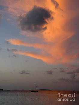 Sundown Over Trunk Bay by Betty Morgan