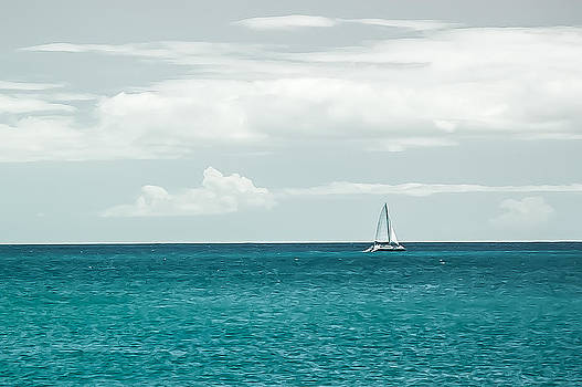 Sailing on a Turquoise Sea by Jason Bartimus