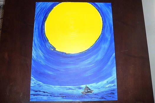 Sailing On by Leena Samat Kuchadiya