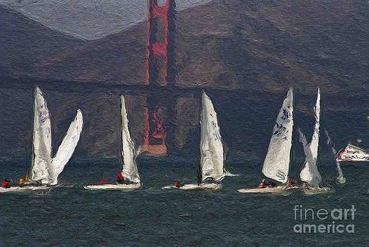 Sailing on the Bay 2 by Alberta Brown Buller