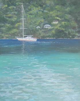Sailing on the Caribbean by Paula Pagliughi