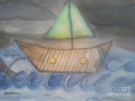 Sailing on the peaceful sea by Amelia Rodriguez