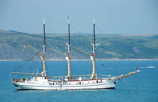 Sailing Ship - Weymouth Bay by Moya Moon
