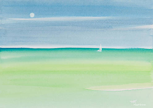 Michelle Wiarda - Sailing the Keys Watercolor Painting