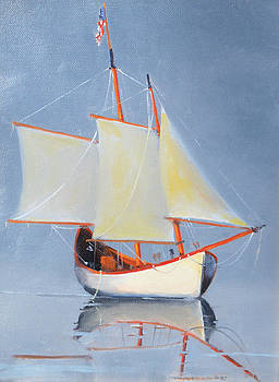 Sailing with a Flag  by Rich Alexander