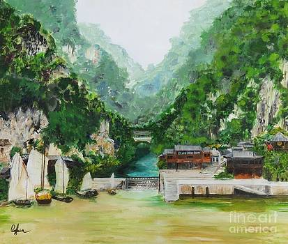 Sails on the Yangtze by Carolyn Speer
