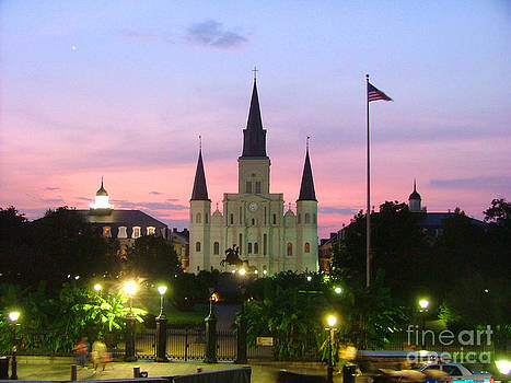 Saint Louis Cathedral by Carolyn Burns Bass