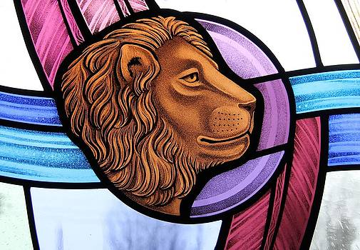 Saint Mark Lion by Gilroy Stained Glass