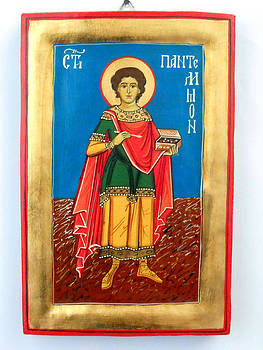 Saint Panteleimon doctor without silver for those who had no money by Denise ClemencoIcons